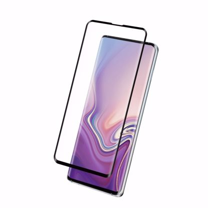 Picture of Eiger Eiger 3D GLASS Full Screen Tempered Glass Screen Protector for Samsung Galaxy S10 in Clear/Black