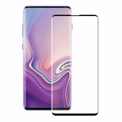 Picture of Eiger Eiger 3D GLASS Case Friendly Tempered Glass Screen Protector for Samsung Galaxy S10 in Clear/Black
