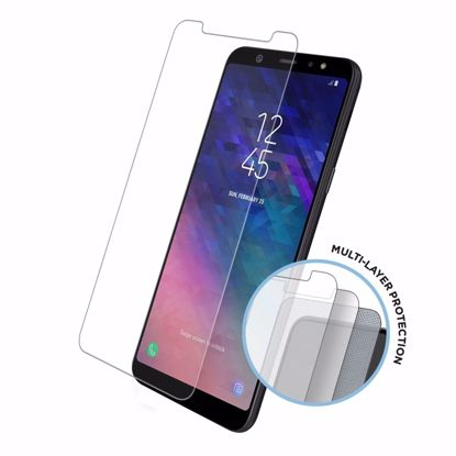Picture of Eiger Eiger Tri Flex High-Impact Film Screen Protector (2 Pack) for Samsung Galaxy A6 (2018) in Clear