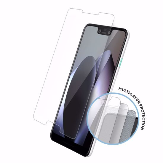 Picture of Eiger Eiger Tri Flex High-Impact Film Screen Protector (2 Pack) for Google Pixel 3XL in Clear