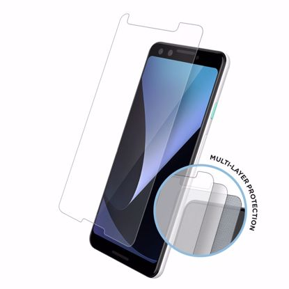 Picture of Eiger Eiger Tri Flex High-Impact Film Screen Protector (2 Pack) for Google Pixel 3 in Clear