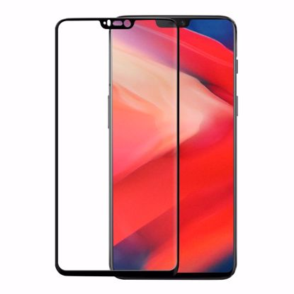 Picture of Eiger Eiger 3D GLASS Full Screen Tempered Glass Screen Protector for OnePlus 6 in Clear/Black