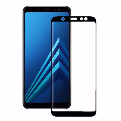 Picture of Eiger Eiger 3D GLASS Full Screen Glass Screen Protector for Samsung Galaxy A6+ (2018) in Clear/Black