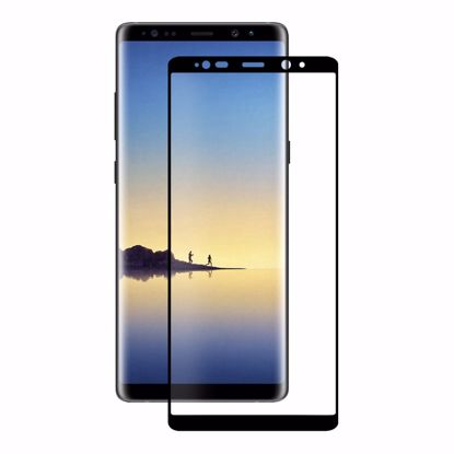 Picture of Eiger Eiger 3D GLASS Case Friendly Tempered Screen Protector for Samsung Galaxy Note 8 in Clear/Black