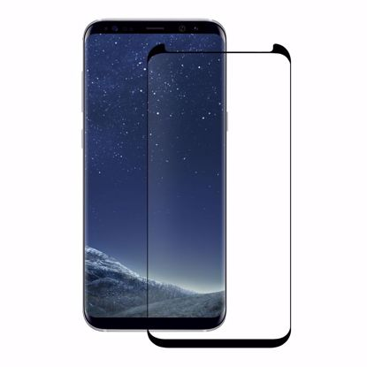 Picture of Eiger Eiger 3D GLASS Case Friendly Tempered Glass Screen Protector for Samsung Galaxy S8+ in Clear/Black
