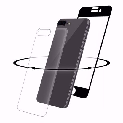 Picture of Eiger Eiger 3D 360 GLASS Tempered Glass Screen Protector for Apple iPhone 8 Plus in Clear/Black