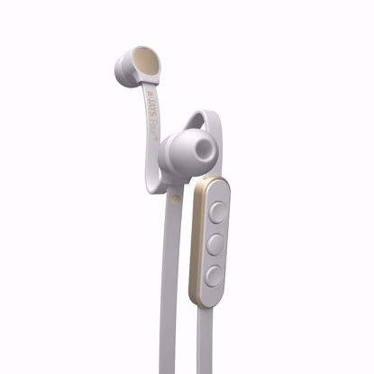 Picture of JAYS a-JAYS Four+ In-Ear Earphones with Mic for iOS Devices in White/Gold