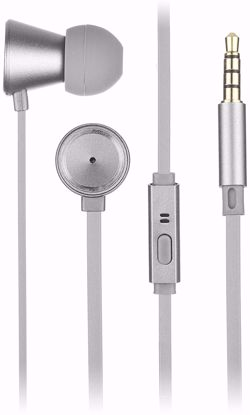 Picture of KitSound Kitsound Metallics In-Ear Headphones in Silver