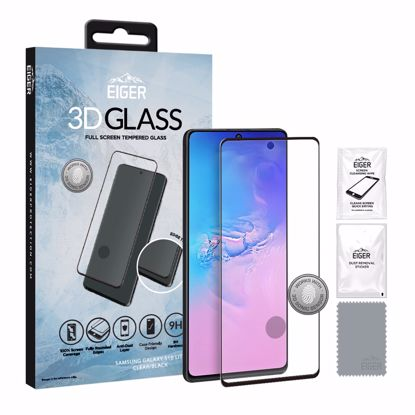 Picture of Eiger Eiger 3D GLASS Full Screen Glass Screen Protector for Samsung Galaxy S10 Lite in Clear/Black