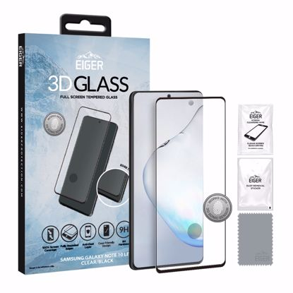 Picture of Eiger Eiger 3D GLASS Full Screen Glass Screen Protector for Samsung Galaxy Note 10 Lite in Clear/Black
