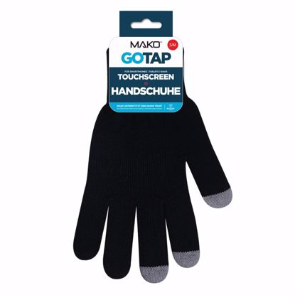 Picture of Mako MAKO GOTAP Touchscreen Gloves in S/M in Black