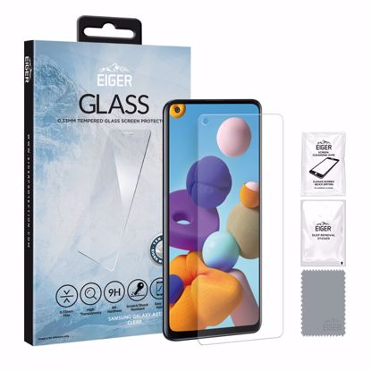 Picture of Eiger Eiger GLASS Tempered Glass Screen Protector for Samsung Galaxy A21 in Clear